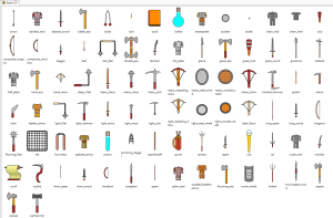all the icons for items (so far)