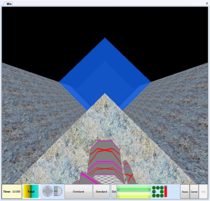 """Deepest water I've made yet.  I had to make it in two layers to get different light levels.  Logically the water, walls and ground extend outward """"forever"""", only my viewport is clipped"""